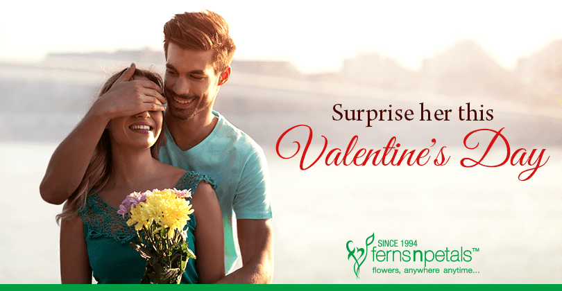 Man surprise to woman Valentine's day gifts