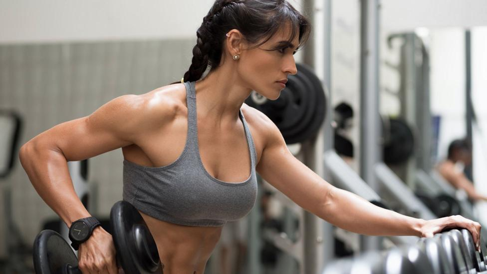 Girls are doing gym for fitness